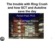 The trouble with Ring Crush and how SCT - Institute of Paper ...