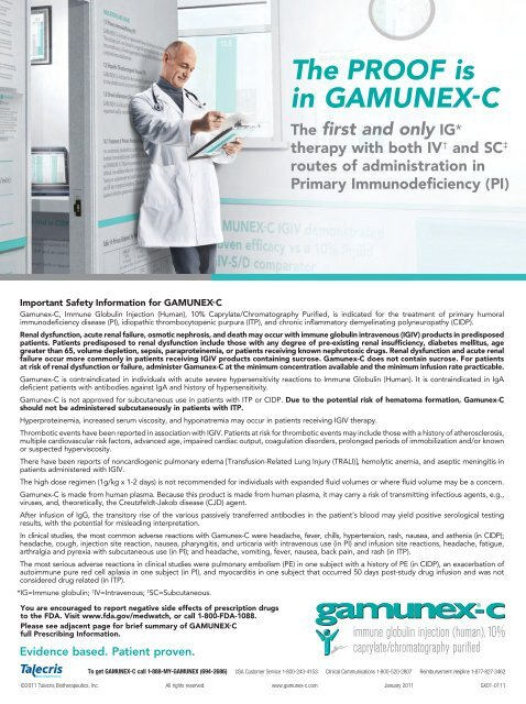 The PROOF is in GAMUNEX-C - The Journal of Immunology