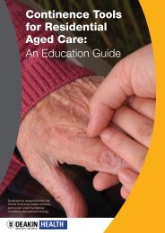 Continence Tools for Residential Aged Care - Bladder and Bowel ...