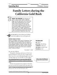 Family Letters during the California Gold Rush - Go West!