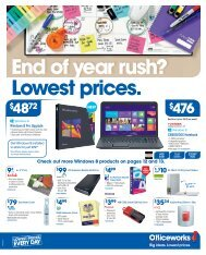 End of year rush? Lowest prices. - Officeworks