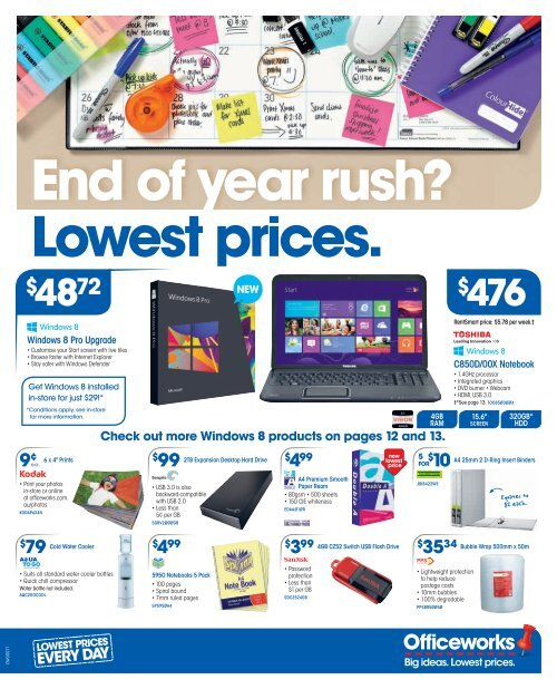 Rush Lowest Prices Officeworks