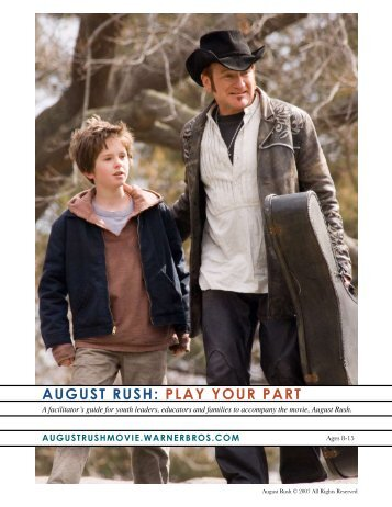 AUGUST RUSH: PLAY YOUR PART - Heartland Truly Moving Pictures