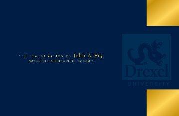 Inauguration Program [PDF] - Drexel University
