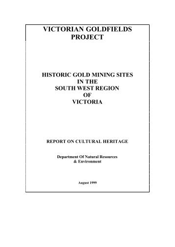 victorian goldfields project - Department of Planning and Community ...