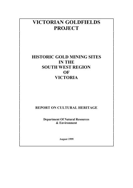 victorian goldfields project - Department of Planning and Community