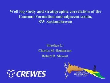 Well log study and stratigraphic correlation of the Cantuar Formation ...