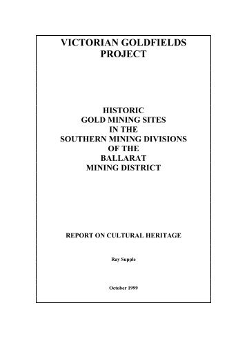 victorian goldfields - Department of Planning and Community ...