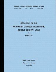 Geology of the Northern Onaqui Mountains, Tooele County, Utah