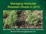 Managing Resistant/Tolerant Weeds in South Dakota