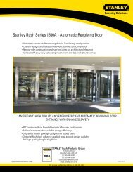 Stanley Rush Series 1500A - Automatic Revolving Door
