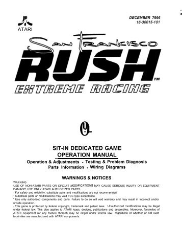 sit-in dedicated game operation manual - The Shaffer Distributing ...
