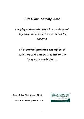 First Claim Ideas