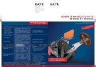 RObOT dE MASTICAGE KA-TE 200/300 ET 250/600 - KA-TE PMO AG