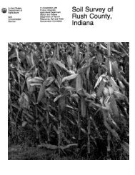 Soil Survey of Rush County, Indiana - Soil Data Mart