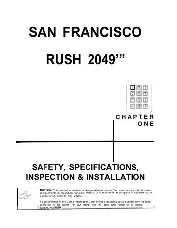 Rush 2049 Manual.1834 - The Shaffer Distributing Company