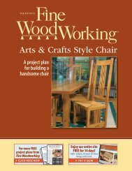 Arts & Crafts Style Chair - Fine Woodworking
