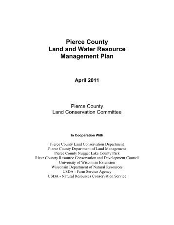 Pierce County Land and Water Resource Management Plan
