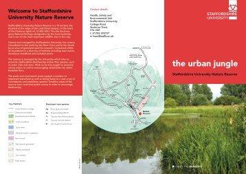 leaflet on the Nature Reserve - Staffordshire University