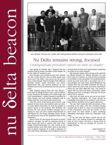 Fall 2006 Newsletter - Alumweb - MIT