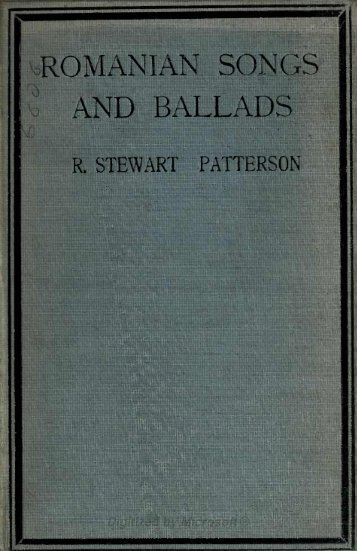 ROMANIAN SONGS AND BALLADS