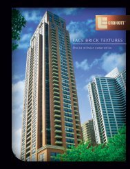 Face brick TexTures - Endicott Clay Products Co.