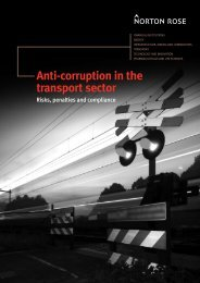 Anti-corruption in the transport sector - Norton Rose