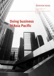 Doing business in Asia Pacific - Norton Rose