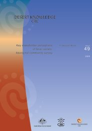 Key stakeholder perceptions of feral camels: Aboriginal community ...