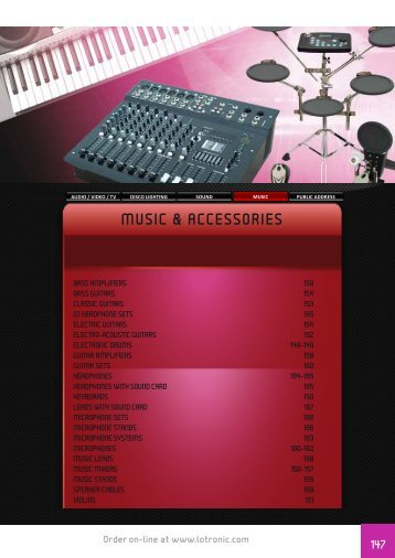 music & accessories - IBIZA SOUND | IBIZA LIGHT Barcelona Valencia