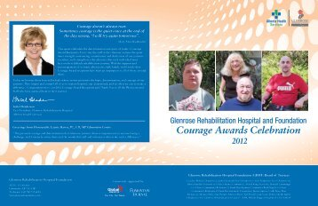Courage Awards Celebration - The Glenrose Rehabilitation Hospital ...