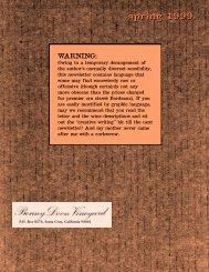 spring 1 9 9 9 - Bonny Doon Vineyard
