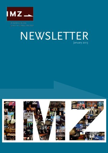 first edition of the IMZ Newsletter 2013