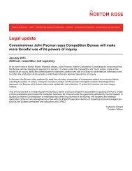 Commissioner John Pecman says Competition ... - Norton Rose