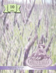 PURE ESSENTIAL OILS Aromatherapy Catalogue - Green Valley ...