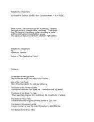 Ballads of a Cheechako by Robert W. Service - President William ...