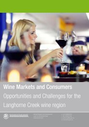Wine Markets and Consumers Opportunities and Challenges for the ...