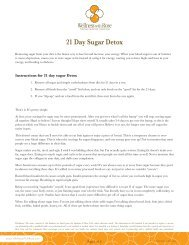 21 Day Sugar Detox - Wellness With Rose