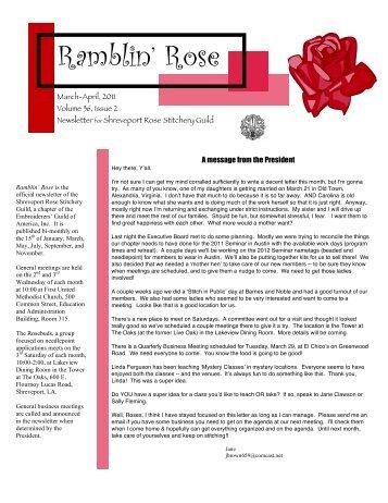 Mar Apr Newsletter SRSG - Home