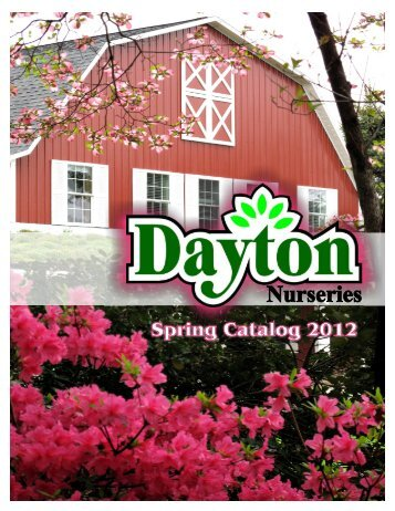 Catalog 2012 Shipping - Dayton Nursery & Garden Center