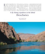 A fly fishing expedition on the fabled Deschutes - Rose River Farm