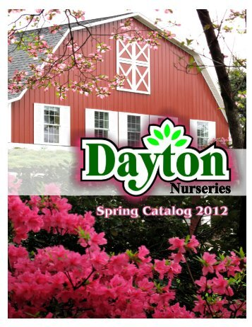 Download our 2012 catalog - Dayton Nursery & Garden Center