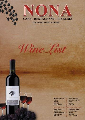 CAFE - RESTAURANT - PIZZERIA - Nona Restaurant & Pizzeria