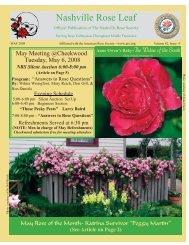 May - Nashville Rose Leaf - Nashville Rose Society