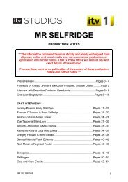 Mr Selfridge Production Notes - Life of Wylie