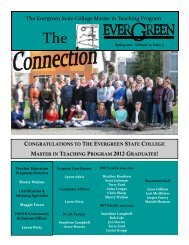 Spring 2012 (PDF) - The Evergreen State College