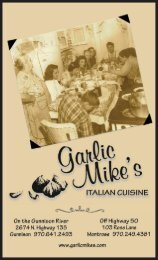 Download Menu in PDF - Garlic Mike's