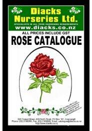 Rose Catalogue 2012 - Diack's Nurseries Ltd
