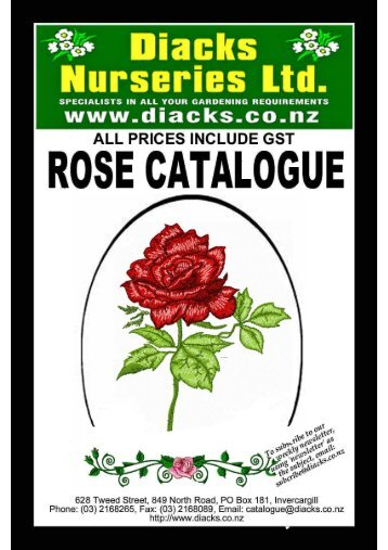 Rose Catalogue 2012 - Diack's Nurseries Ltd
