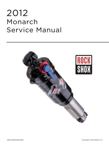 Rockshox Recon Rl Solo Air 2018 Service Manual